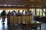 The Grange's tasting room in its former hay loft.