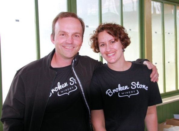 Tim and Micheline Kuepfer the owners of Broken Stone winery make their debut at Terroir.