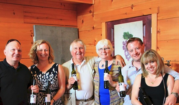 Discovering our inner winemaker at Caroline Cellars on the Crush Wine Tour, Niagara on the Lake.