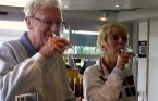 Wine tasting at Huff Estates