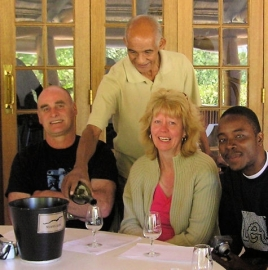 Victor Titus leading a tasting at Nelson Creek Winery