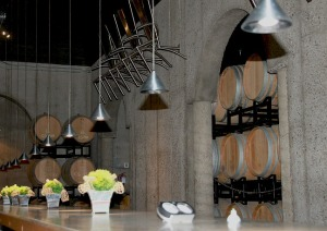 The cement table and family chairs in the Pilliteri barrel cellar