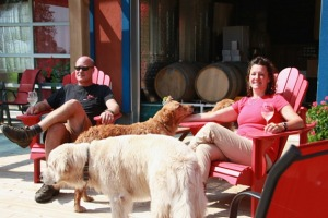 John & Sacha Squair at 3 Dog Winery
