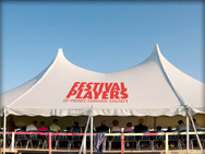 Festival players tent