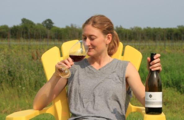 MacKenzie Brisbois, winemaker and viticulturalist at Trail Estate