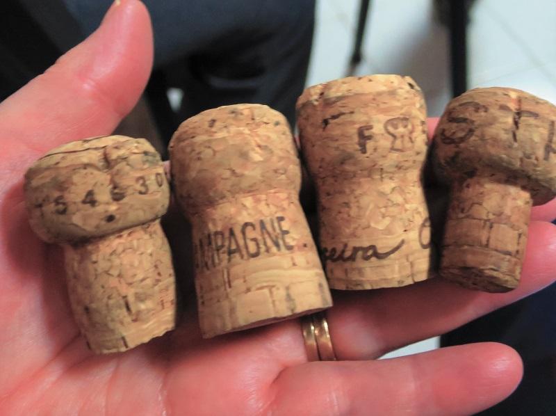 Ed champagne corks
