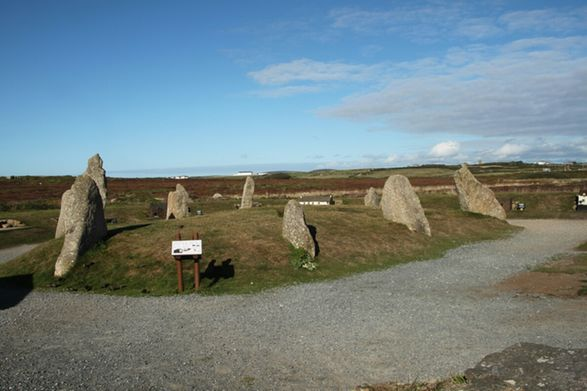 stone circle at lands end